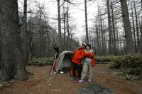 小梨平でキャンプ